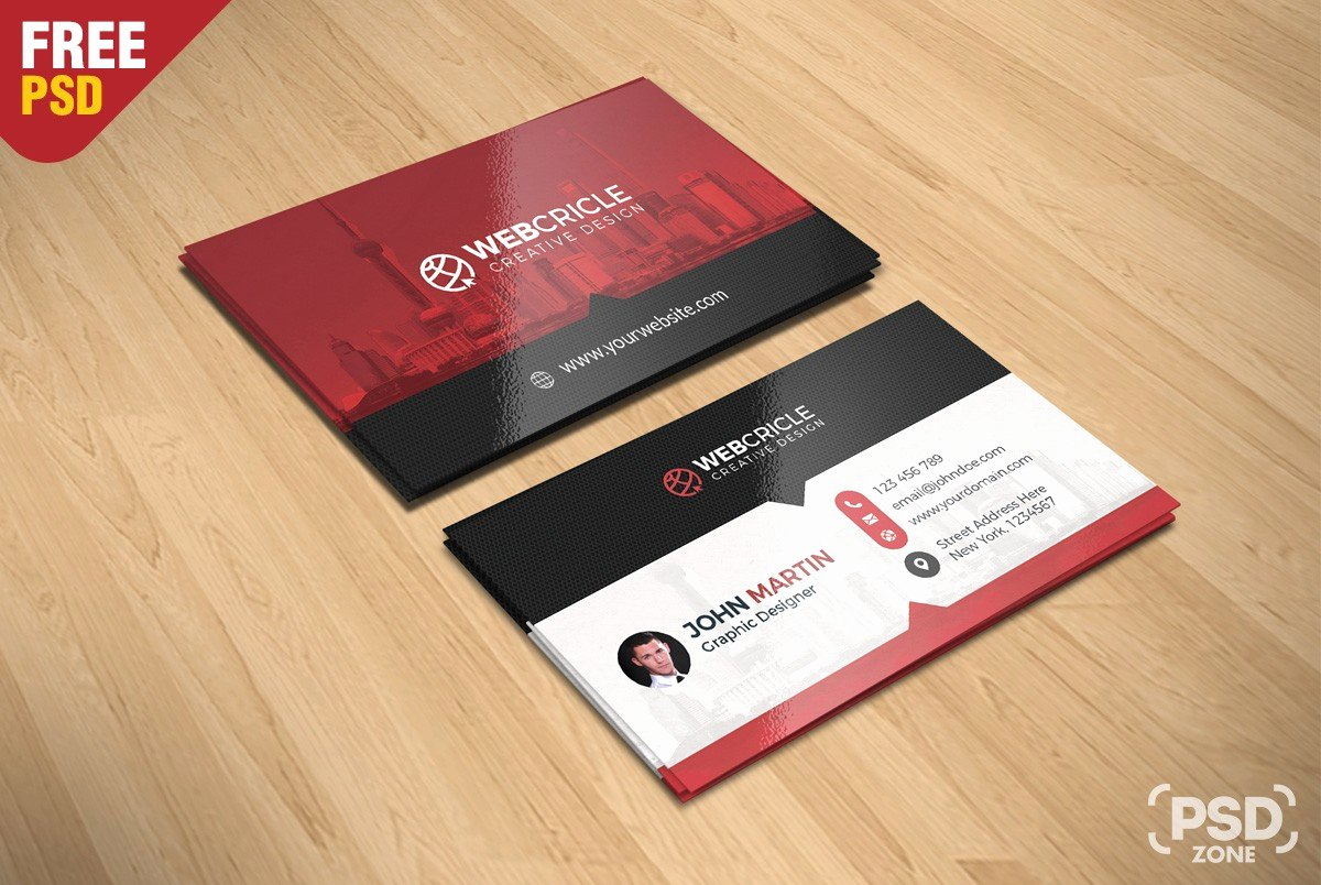 Free Corporate Business Card Psd Download Download Psd