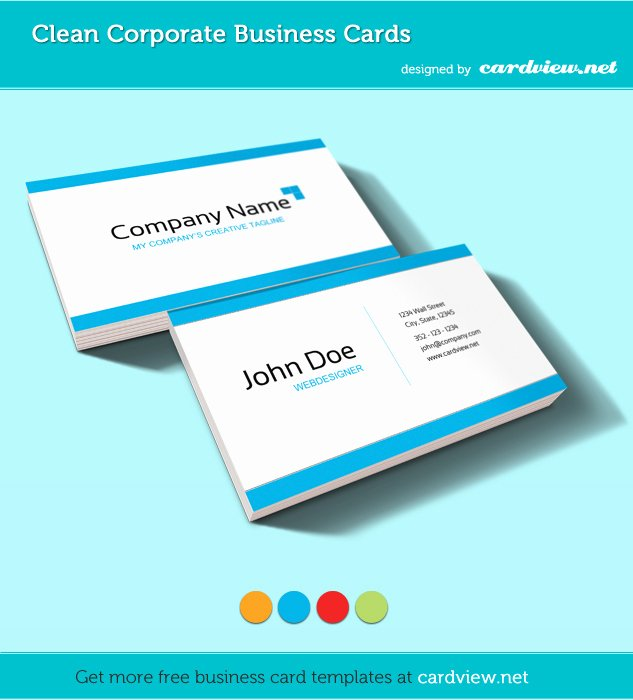 Free Corporate Business Card Psd Template