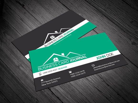Free Corporate Design Realtor Business Card Template
