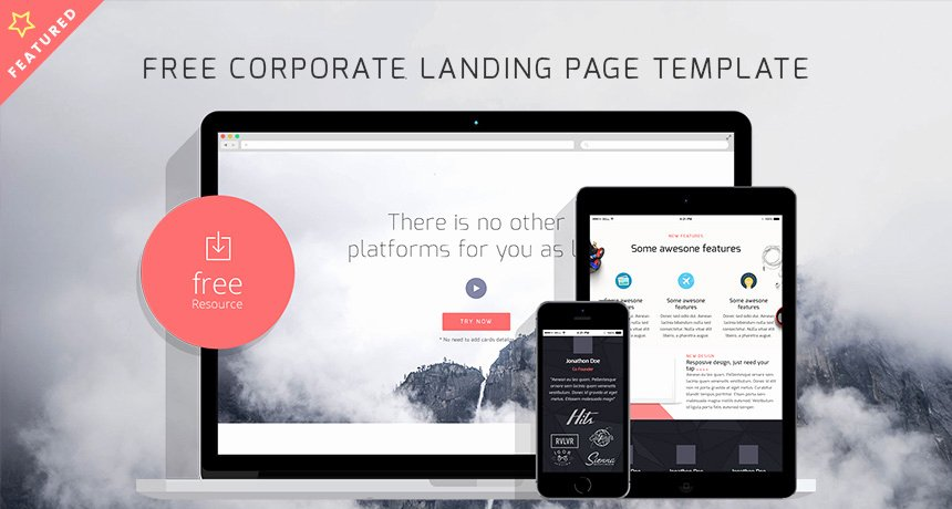 Free Corporate Landing Page HTML Template