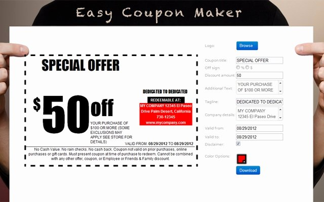 Free Coupon Maker Template Free Coupon Template Brochure