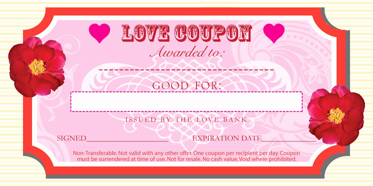 Free Coupon Maker Template Free Printable Valentine Coupon
