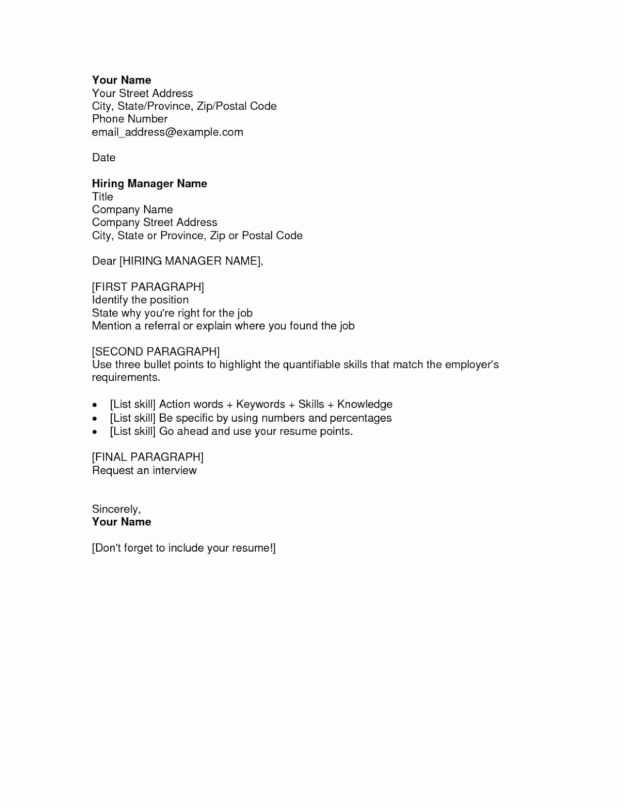 Free Cover Letter Samples for Resumes