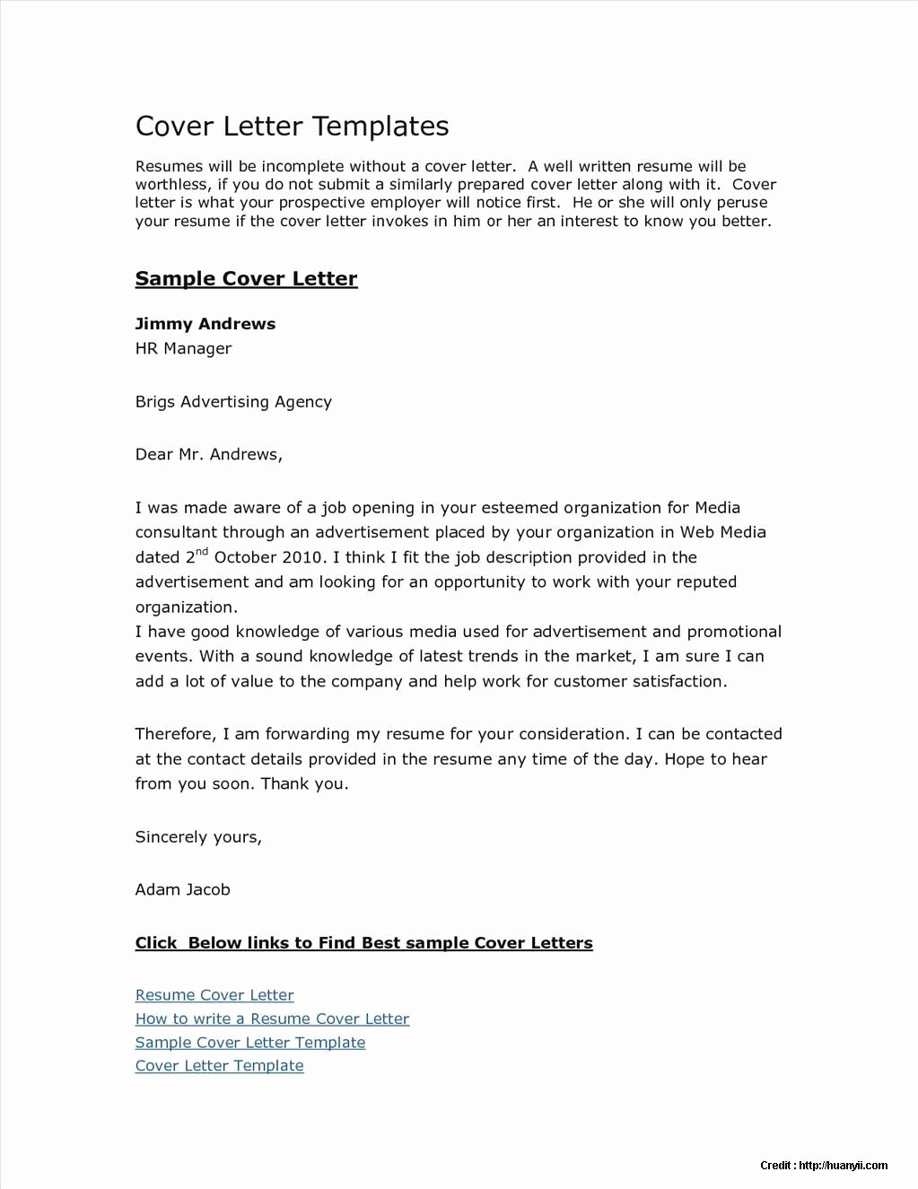 Free Cover Letter Templates Microsoft Download Cover