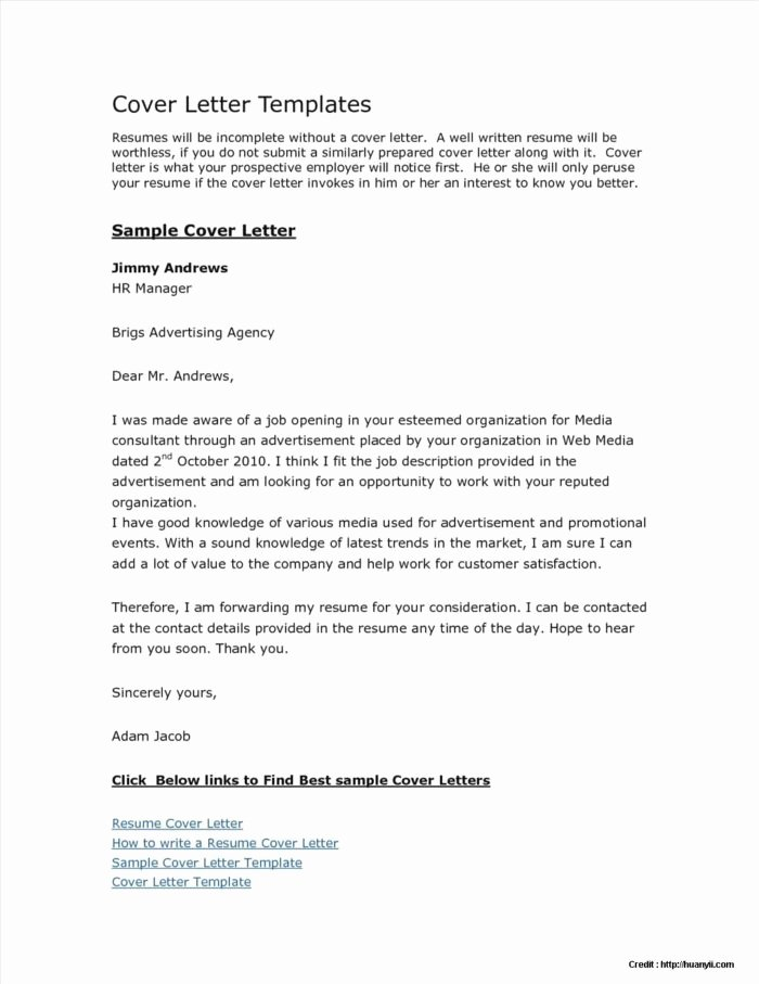 Free Cover Letter Templates Microsoft Word 2007 Cover