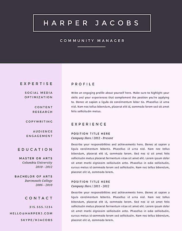 Free Creative Microsoft Word Resume Templates