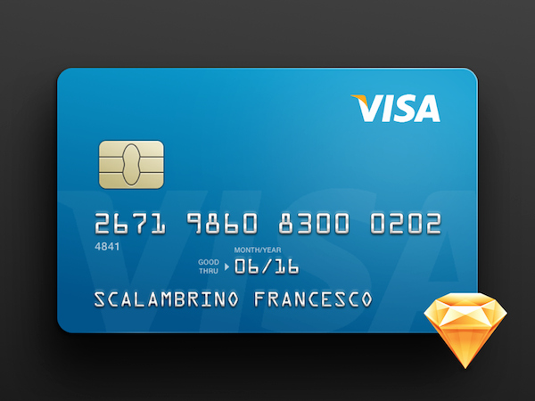 Free Credit Card Template Sketch