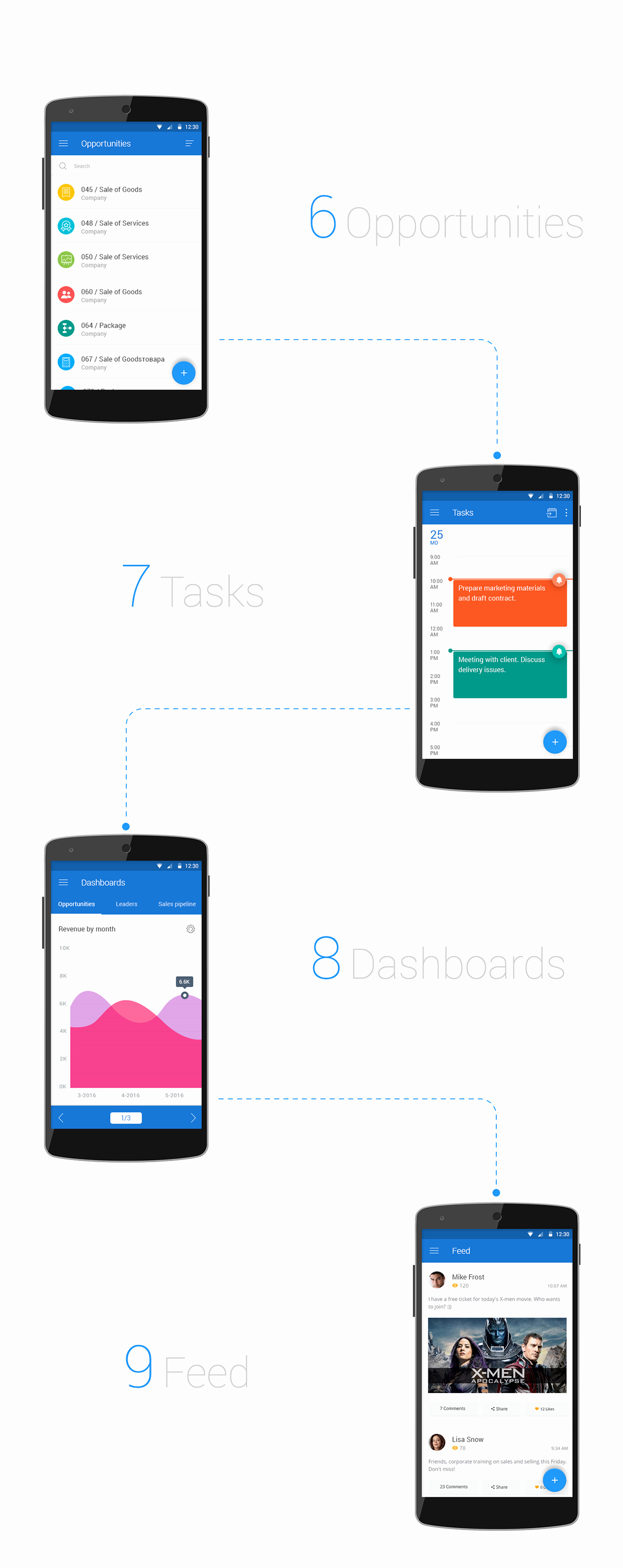 Free Crm Mobile App Psd Template — Free Design Resources