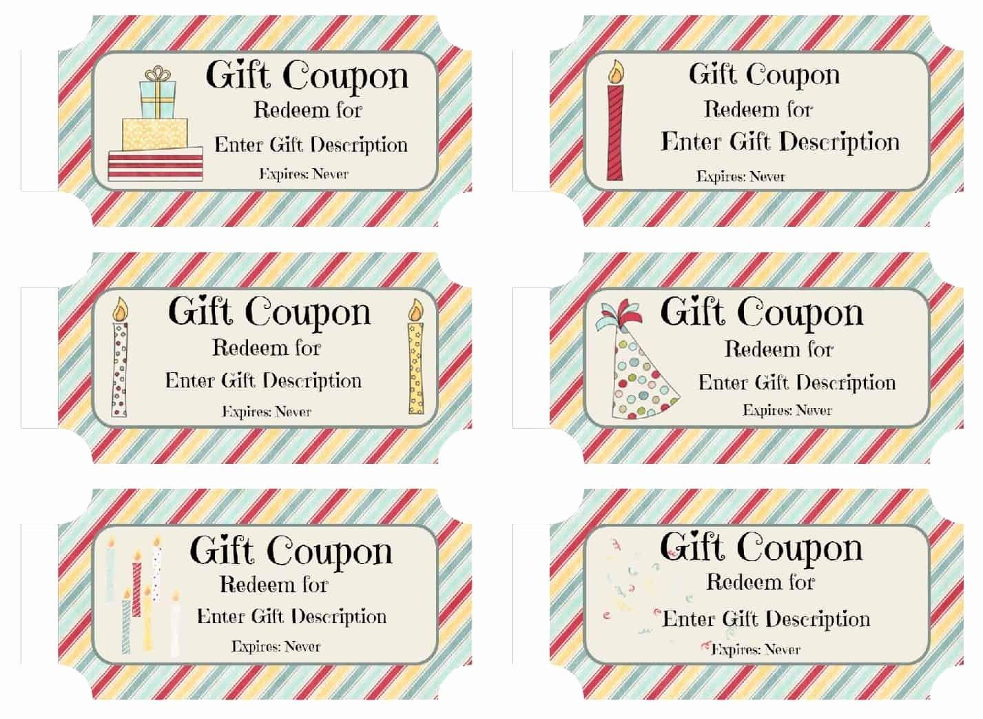 Free Custom Birthday Coupons Customize Line & Print at