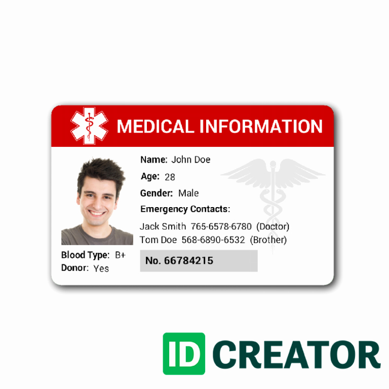 Free Custom Id Card Templatesidcreator Make Id Badges