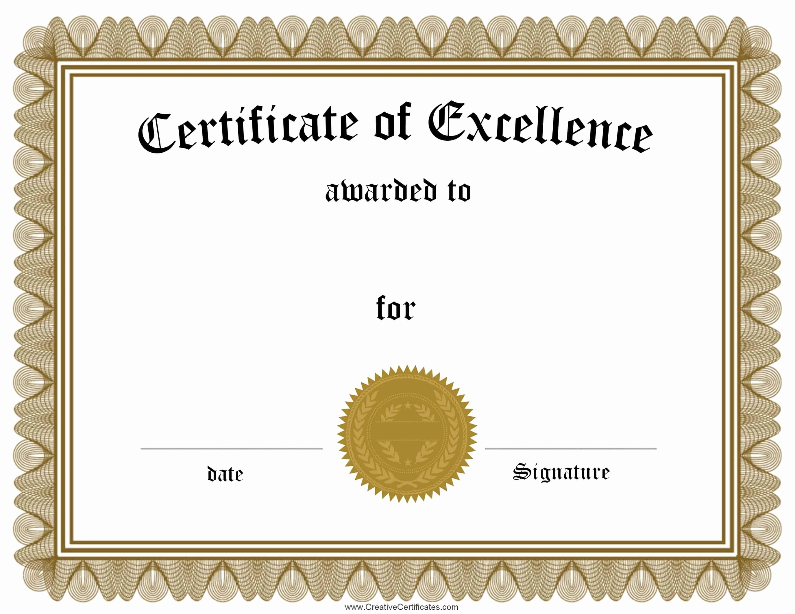 certificates achievement