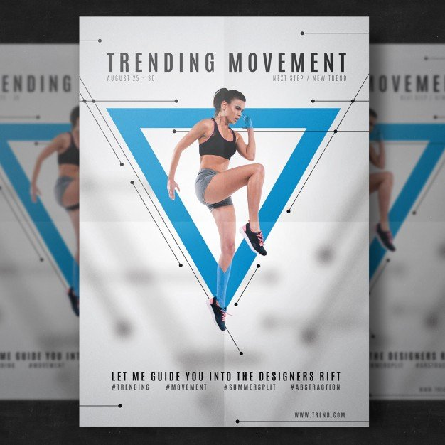 Free Customizable Fitness Flyer Mockup In Psd Designhooks
