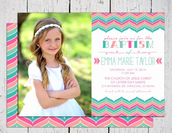 Free Customize Printable Baptism Invitation