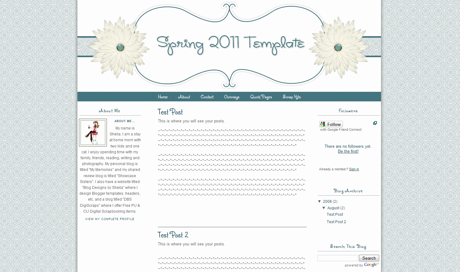 Free Cute Blogger Templates