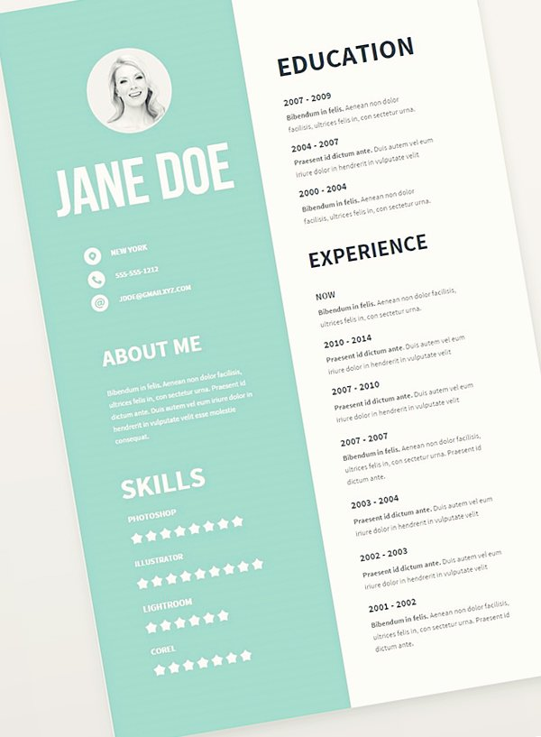 Free Cv Resume Psd Templates Freebies