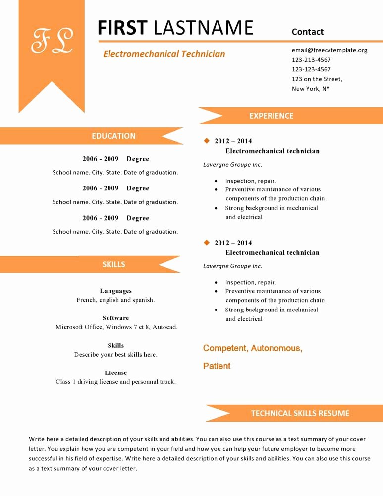 Free Cv Resume Templates 480 to 487 – Free Cv Template