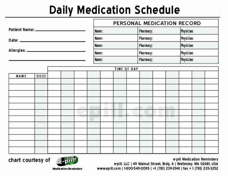 Free Daily Medication Schedule Free Daily Medication
