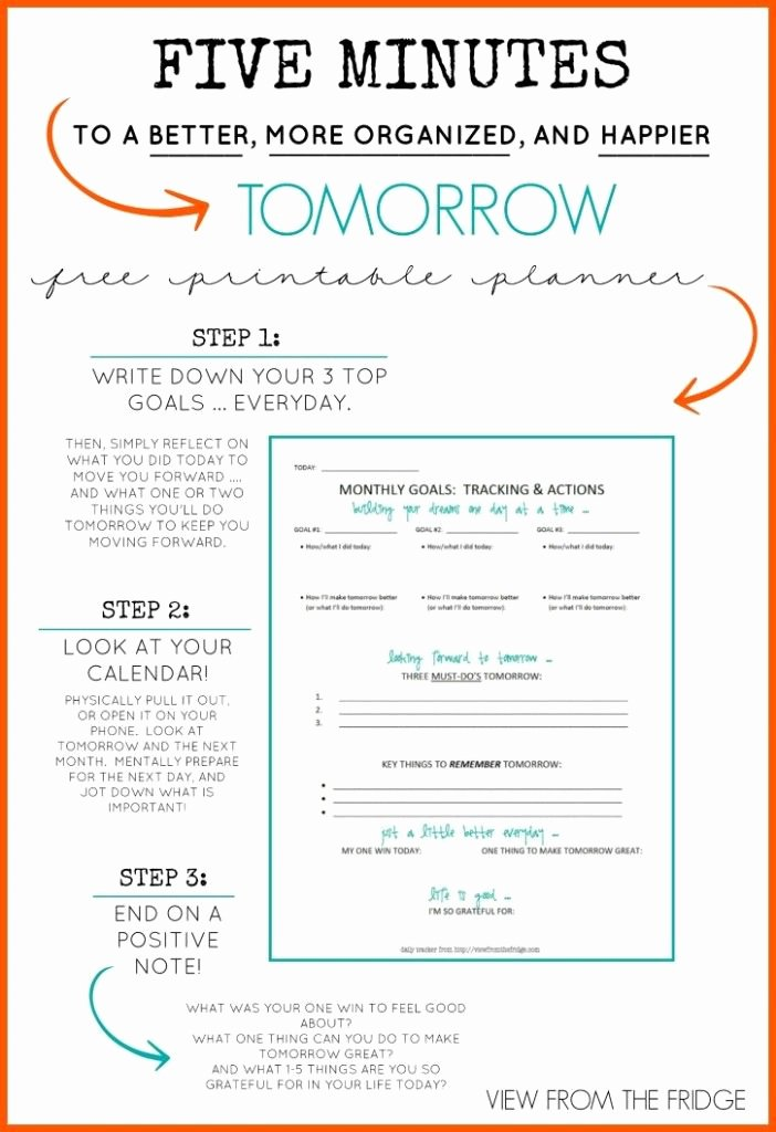Free Daily Planner Printable 5 Minutes to A Better More