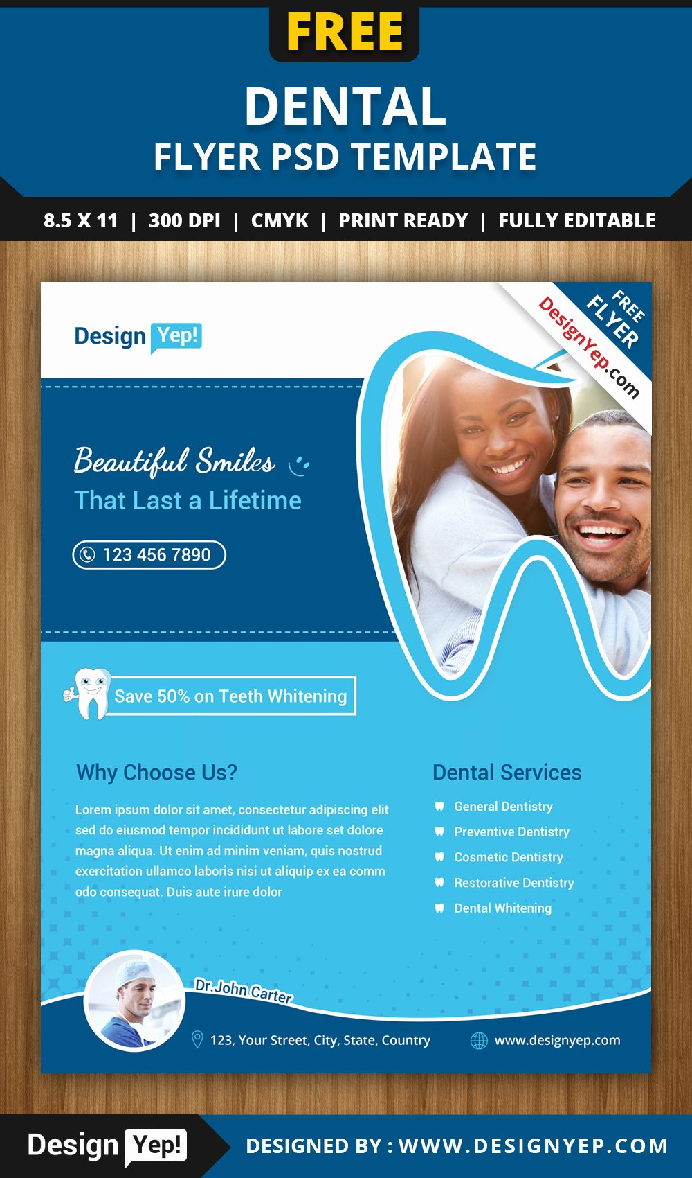 Free Dental Flyer Psd Template Designyep