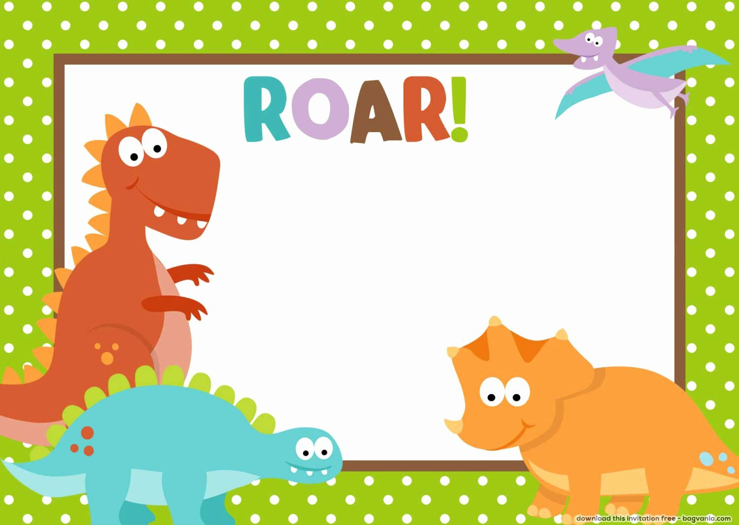 Free Dinosaur Birthday Invitations – Free Printable