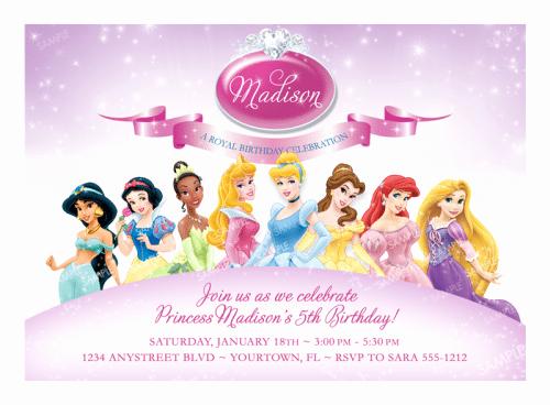 Free Disney Princess Birthday Invitations Printable