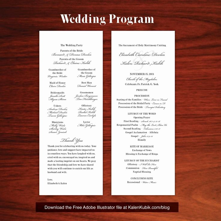 Free Diy Catholic Wedding Program Ai Template I M A