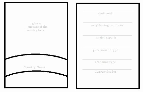 Free Diy Geography Trading Card Template