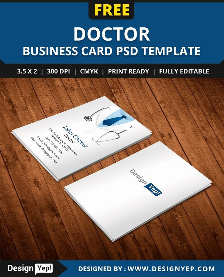 Free Doctor Business Card Template Psd
