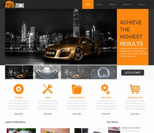 Free Download Autozone Mobile Website Template Fptemplates