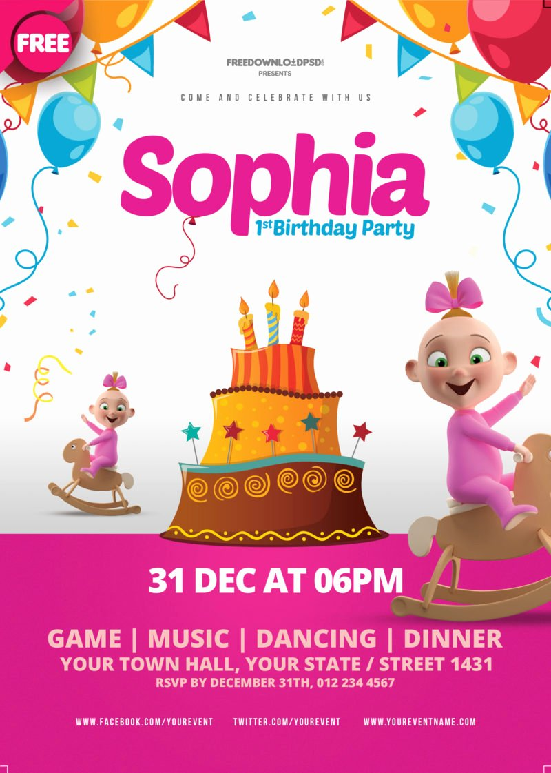 [free Download] Birthday Party Flyer