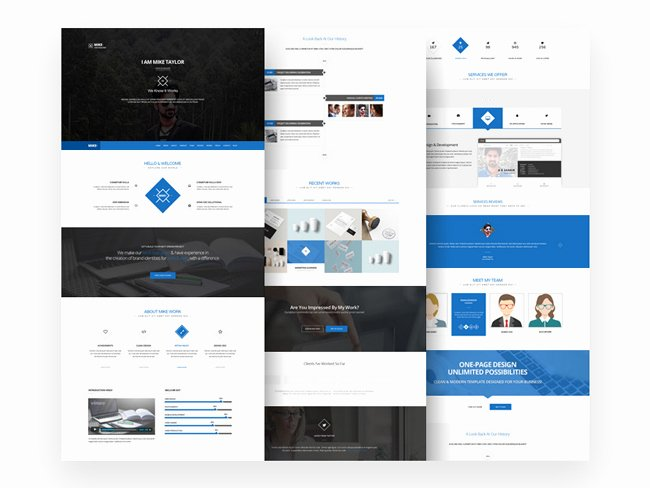 Free Download Clean E Page Website Template Psd