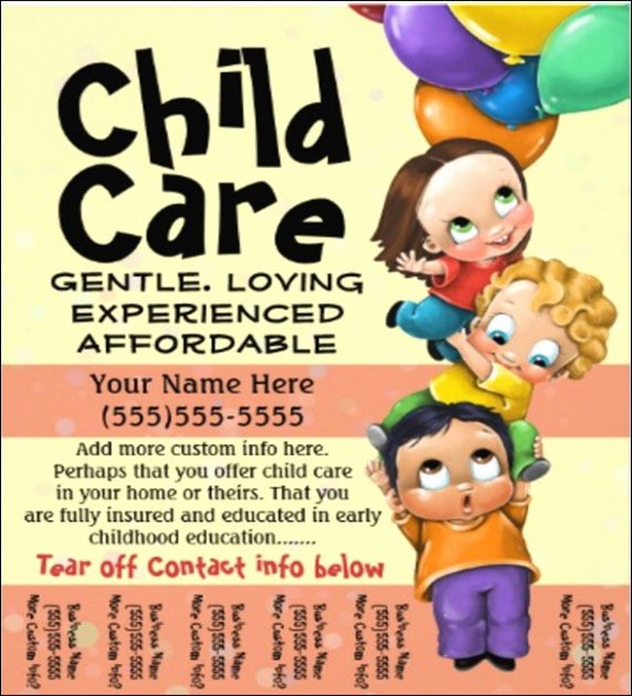 Free Download Daycare Brochure Samples Brickhost