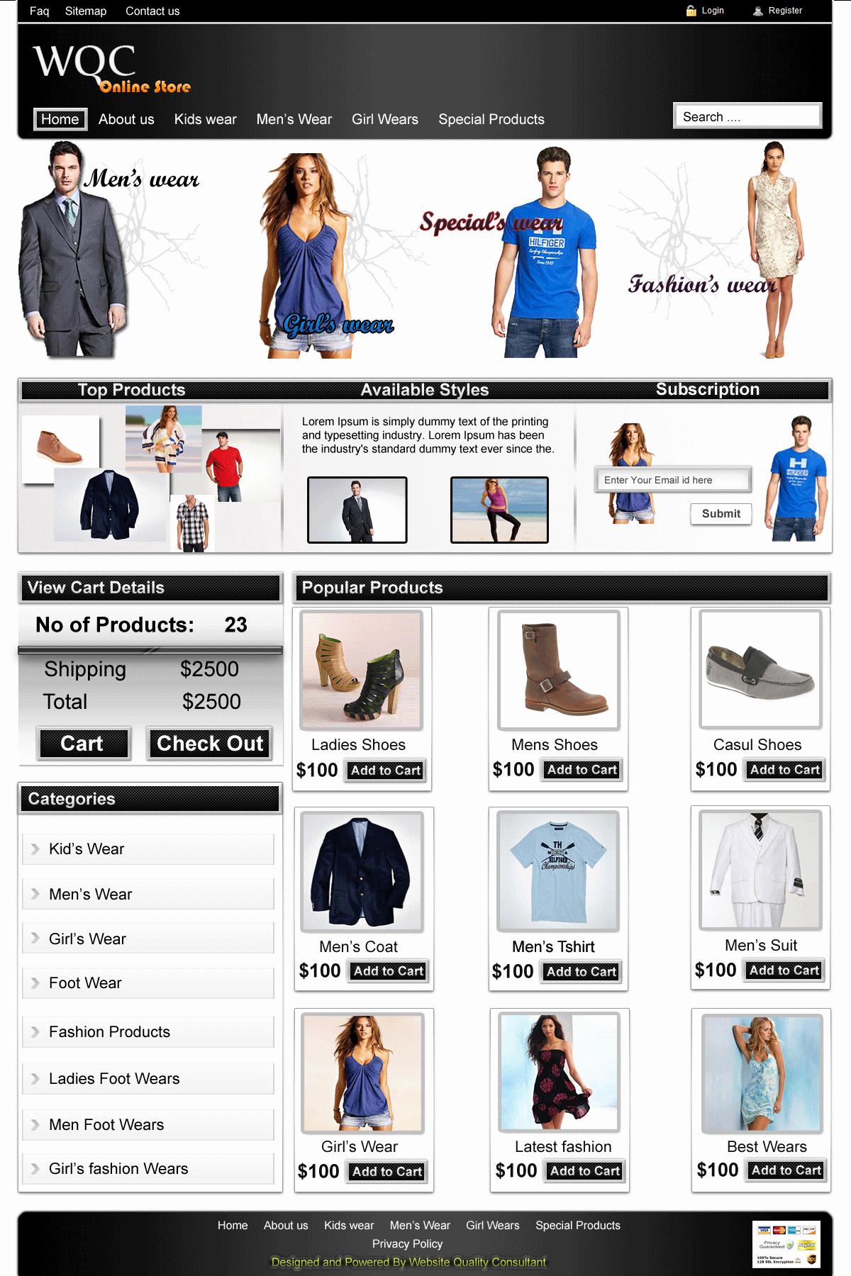 Free Download E Merce Web Tmplate