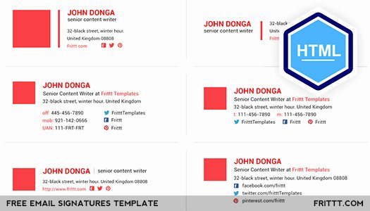 [free Download] Email Signatures HTML Template On Behance
