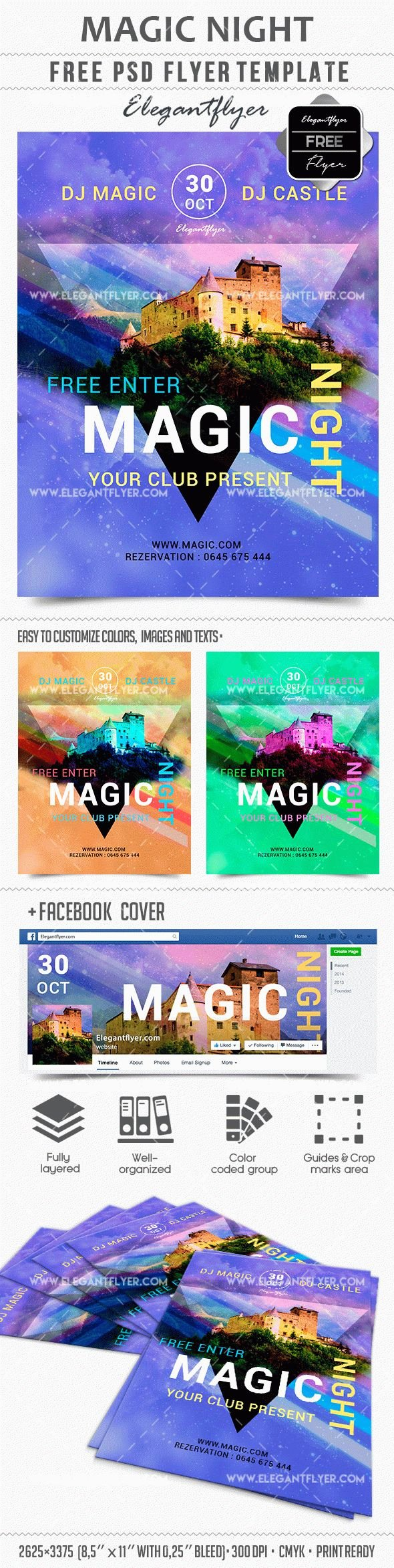 Free Download Flyer Template Magic Night – Free Psd