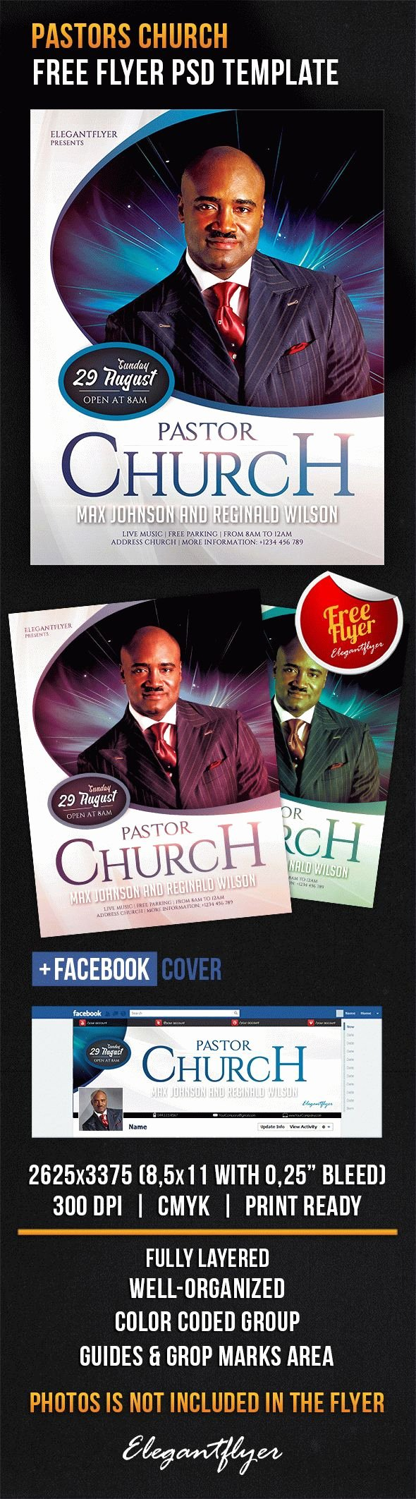 Free Download Flyer Template Pastors Church