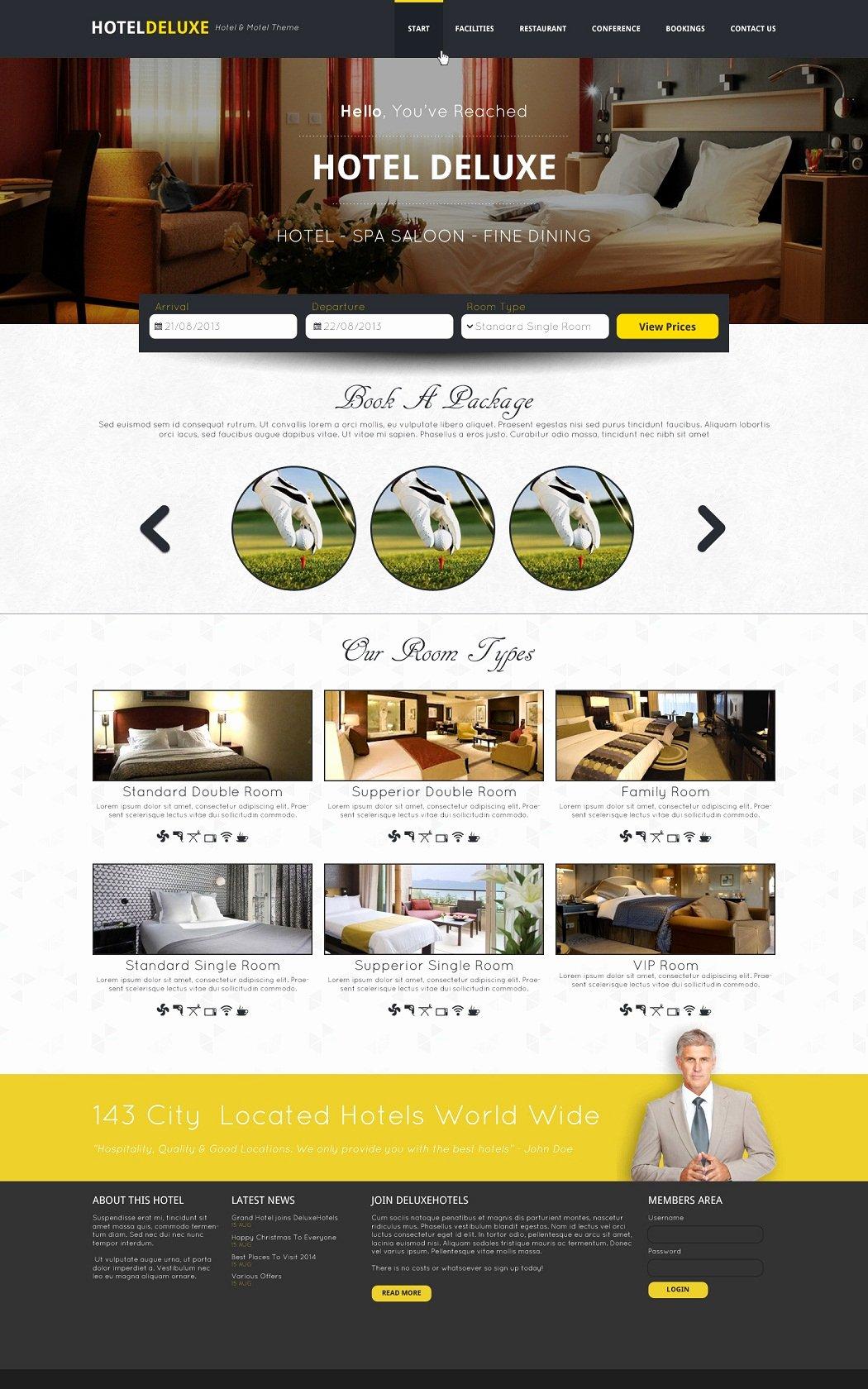 Free Download Hotel Website Template Psd Design Techfameplus