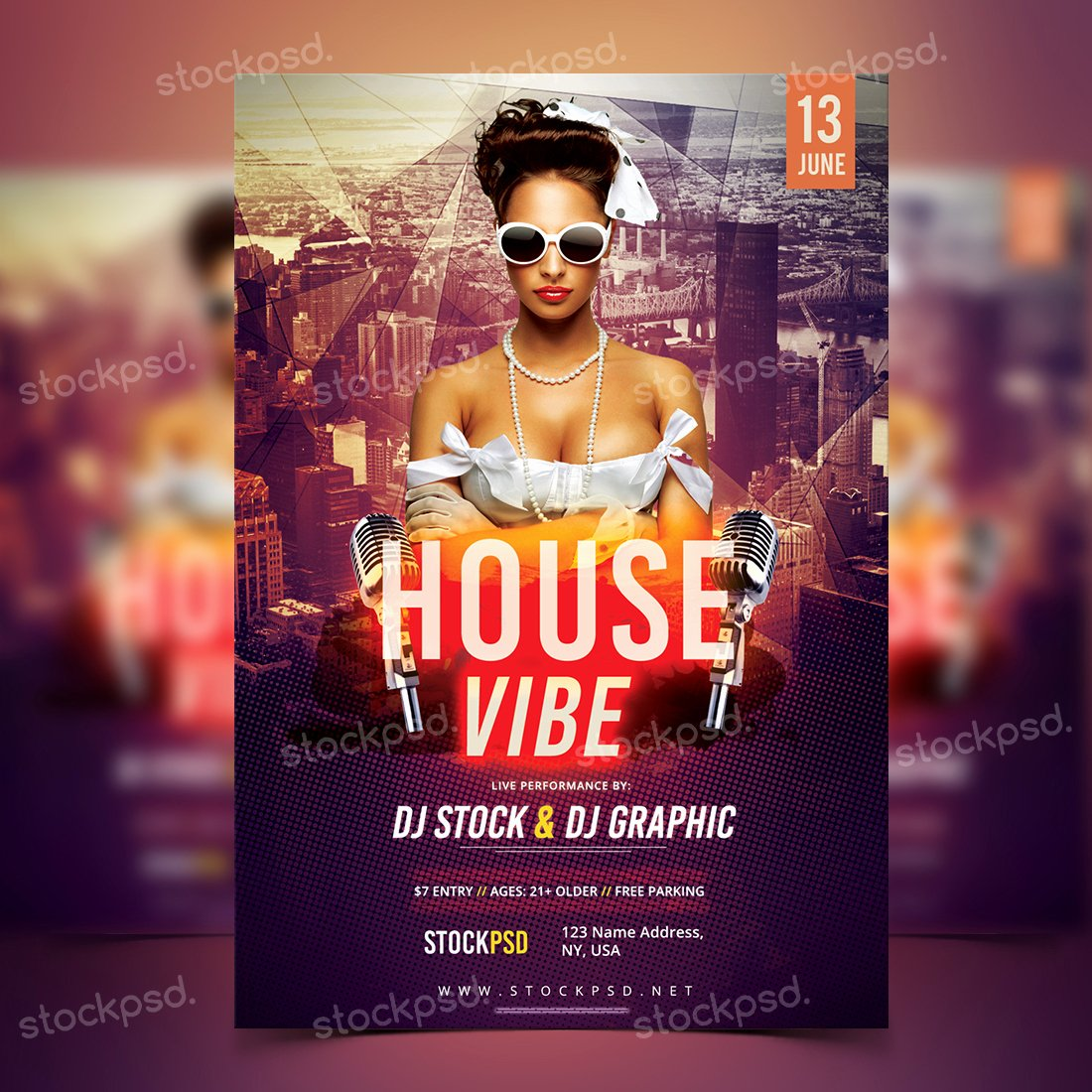 Free Download House Vibe Psd Template Flyer Flyershitter