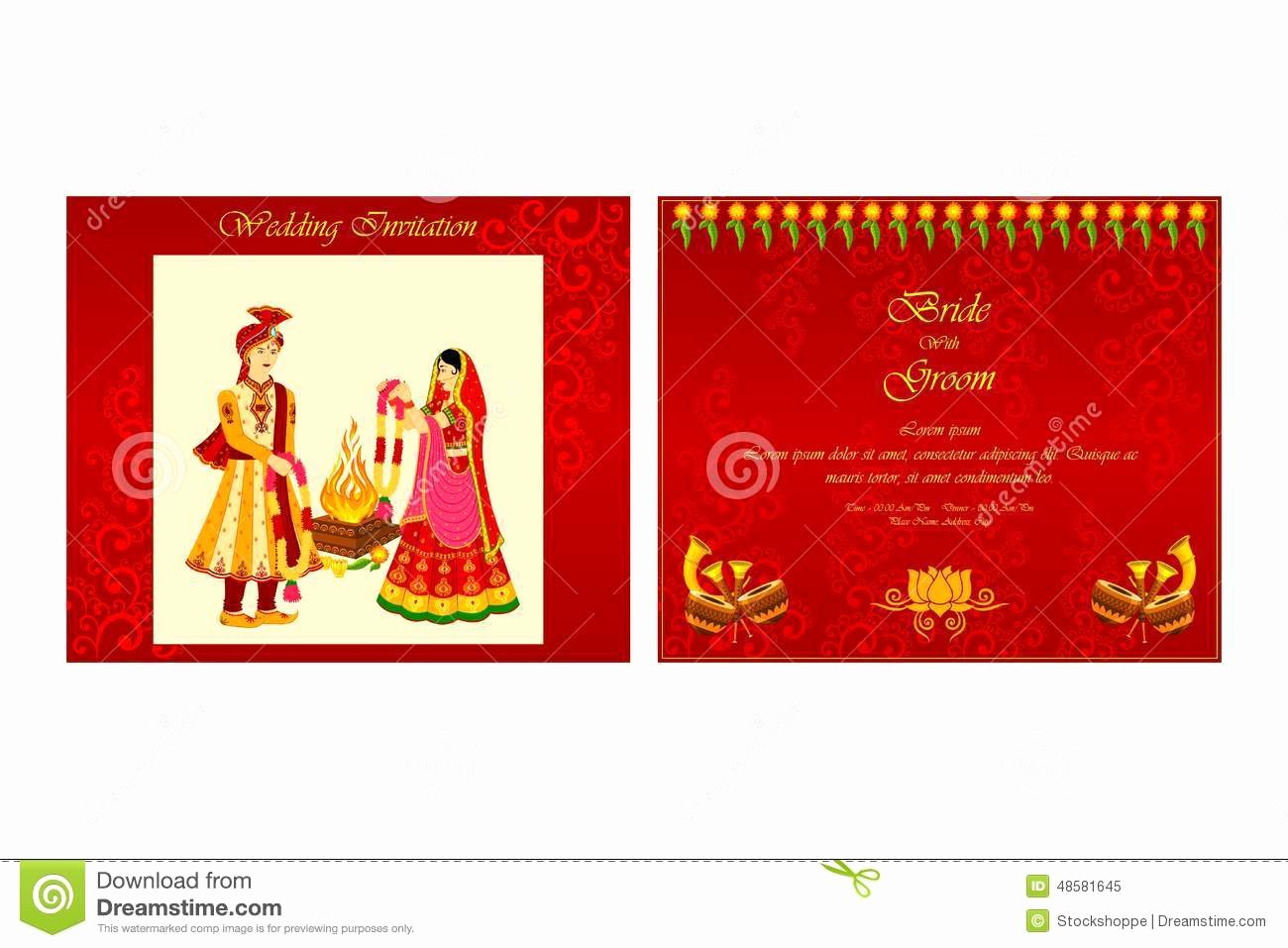 Free Download Indian Wedding Invitation Templates Jin's