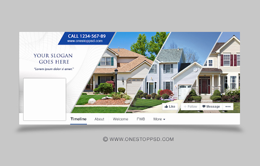 [free Download] Real Estate Timeline Cover Psd