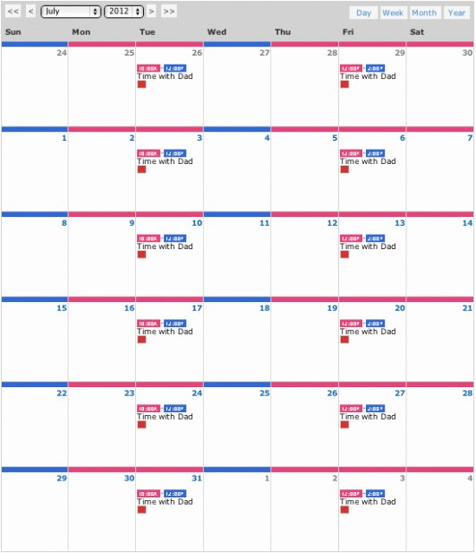 Free Download Sample 16 Visitation Schedule Template