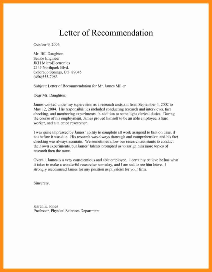 Free Download Sample Re Mendation Letter for Job