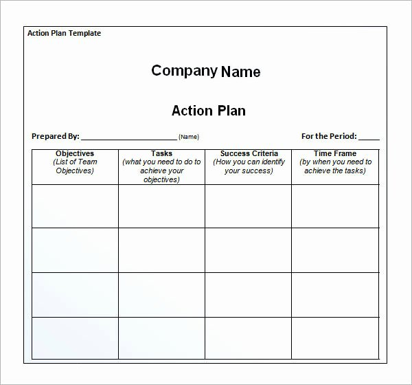 Free Download Simple Action Plan Template Example for