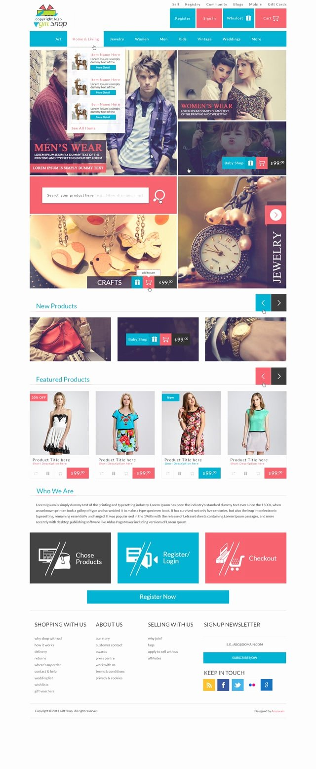 Free E Merce Web Templates Psd Css Author
