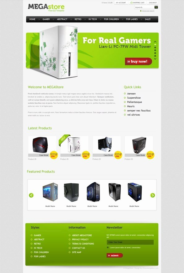 Free E Merce Website Css Template for software and