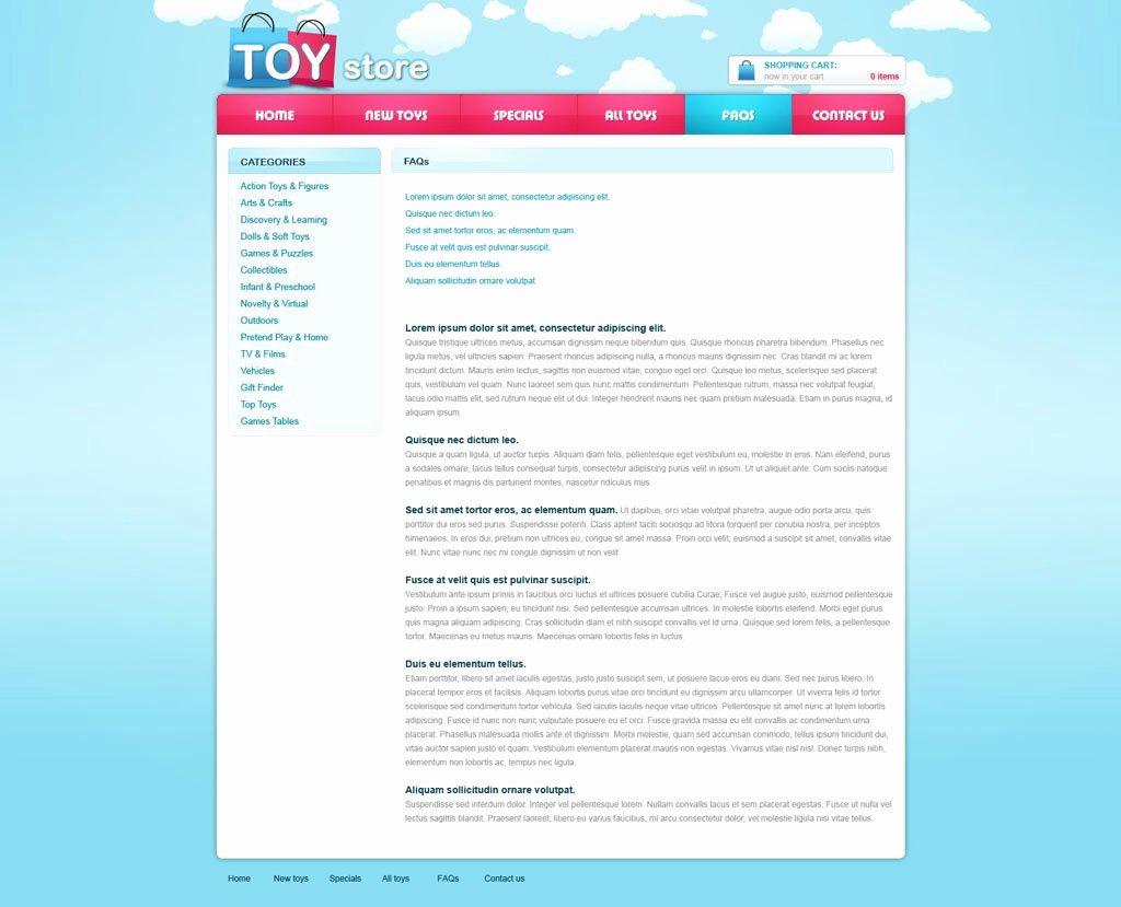 Free E Merce Website Template