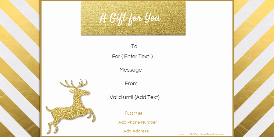 Free Editable Christmas Gift Certificate Template