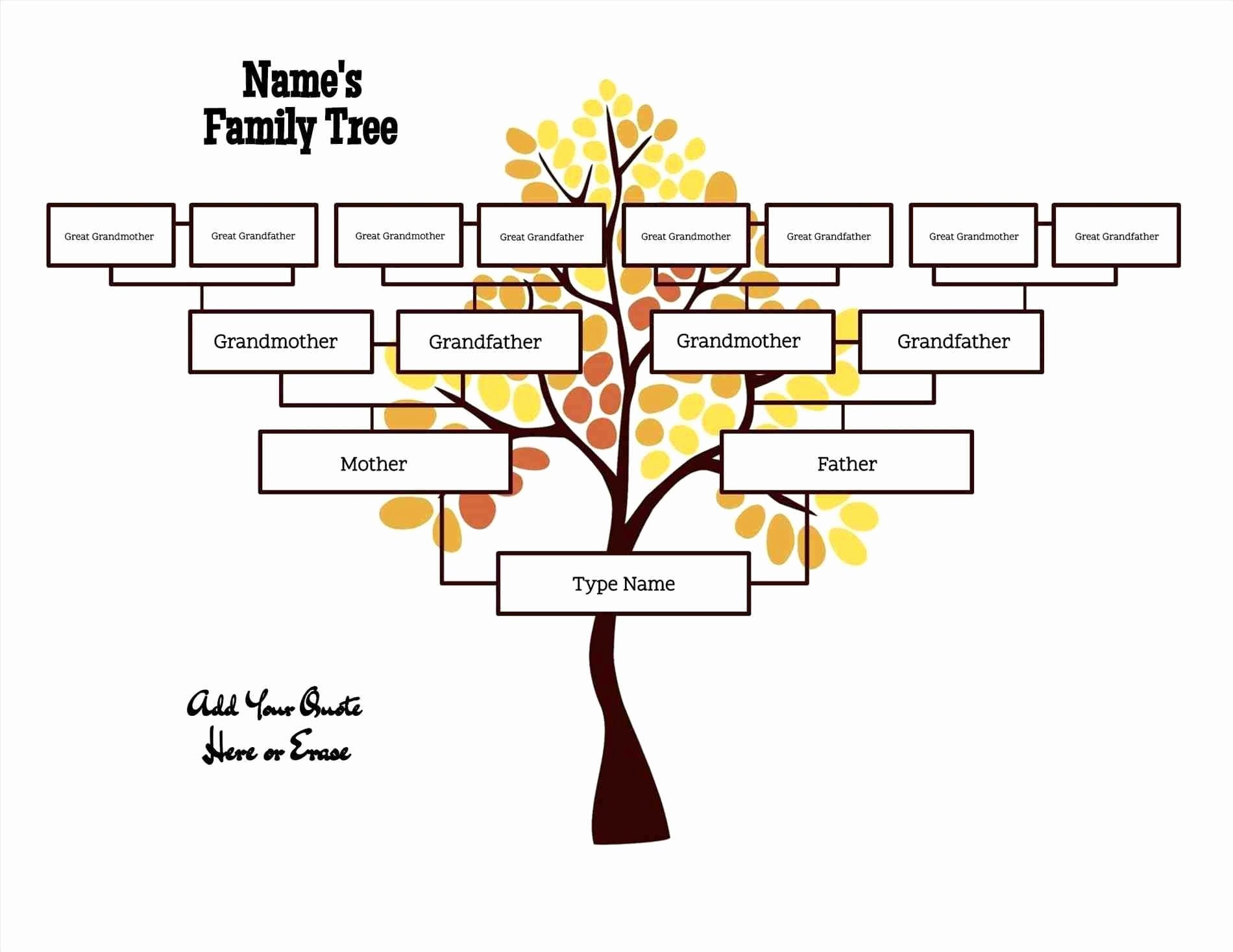 Free Editable Family Tree Template Daily Roabox