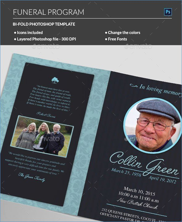 Free Editable Funeral Program Template Image Collections