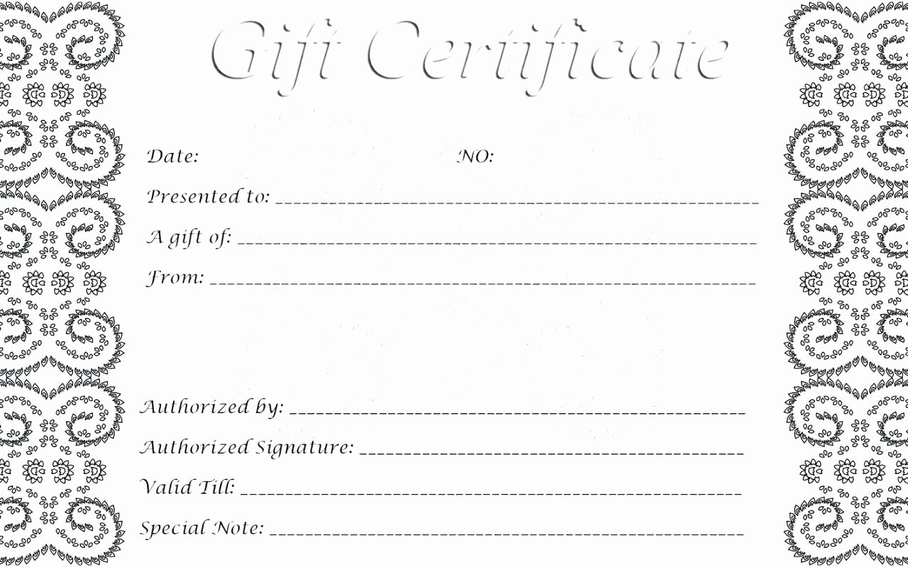 Free Editable Gift Certificate Template Gift Ftempo